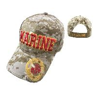 Licensed MARINE Hat [Seal on Bill] Digital Camo